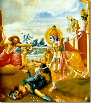 [Krishna fighting Shalva]