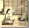 [Bharata meditating on Rama's sandals]