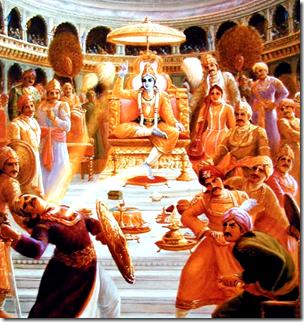 [Krishna and Shishupala]