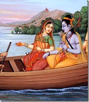 [Sita and Rama on boat]