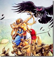 [Jatayu against Ravana]