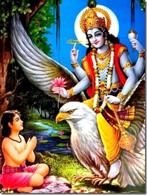[Vishnu and Dhruva]