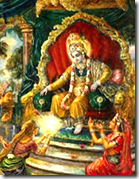 [Krishna as king of Dvaraka]