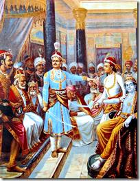 [Krishna visiting Duryodhana]