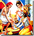 [Krishna welcoming Sudama]