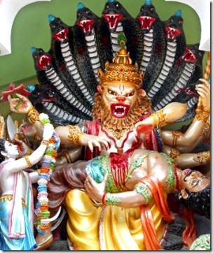 [Narasimha and Hiranyakashipu]