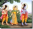 [Rama-Sita-Lakshmana in forest]