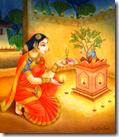 [Worshiping Tulasi Devi]