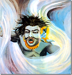 [Krishna with Trinavarta]