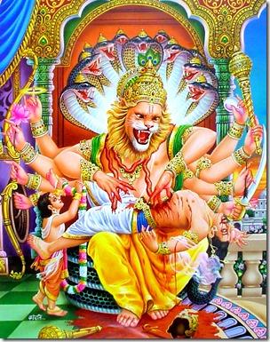 [Krishna killing Hiranyakashipu]