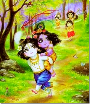 [Krishna playing with friends]