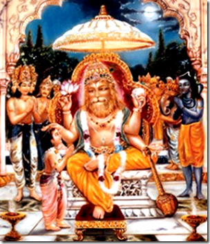 [Prahlada blessed by Narasimha]
