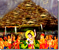 [Govardhana saving from rain]