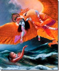 [Krishna as the swift deliverer]