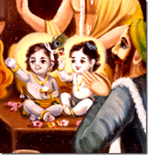 [Krishna and Balarama naming ceremony]