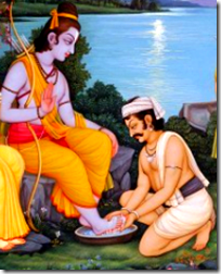 [Kewat washing Rama's feet]