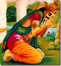 [Indra praying]