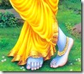 [Krishna's lotus feet]