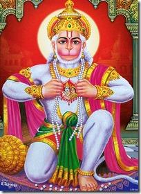 [Hanuman's heart]