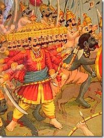 [Battling Ravana]