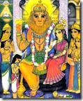 [Prahlada with Lakshmi-Narasimha]