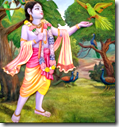 [Krishna with parrot]