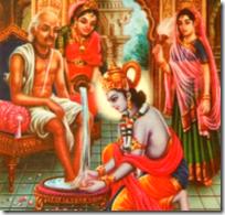 [Sudama visiting Krishna]