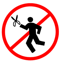 [no running with scissors]