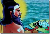 [Markandeya Rishi seeing Narayana]