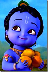 [Krishna holding fruit]