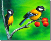[Two birds sitting on a tree]