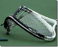 [broken tennis racket]