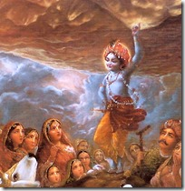 [Krishna lifting hill]