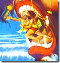[Hanuman and Surasa]