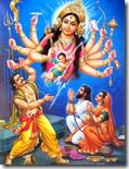 [Durga Devi and Kamsa]