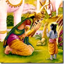 [Krishna and Indra]