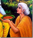 [Shabari offering fruits]
