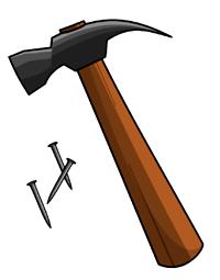 [Hammer and nails]