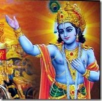 [Krishna teaching Arjuna]