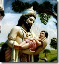 [King Janaka with Sita]