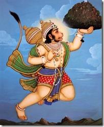 [Hanuman lifting mountain]