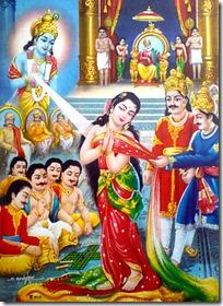 [Krishna saving Draupadi]