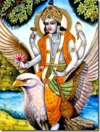 [Vishnu on Garuda]
