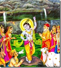 [Lifting Govardhana Hill]