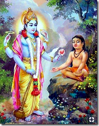 [Dhruva meeting Vishnu]