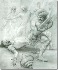 [Bhima fighting Jarasandha]