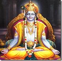 [Krishna in yoga]
