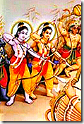 [Lakshmana and Rama in battle]