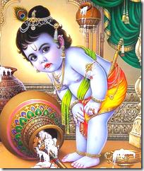 [Krishna stealing butter]