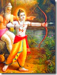 [Shri Rama in battle]